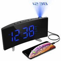 Mpow Digital Alarm Clock Projection LED Dual Alarms SNOOZE USB Charging Port