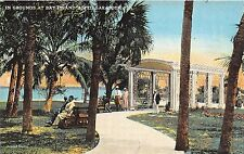 A51/ Sarasota Florida Fl Postcard c1915 In Grounds at Bay Island Hotel
