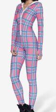 L Barbie tartan Snugglesuit Black Milk Clothing Pink Plaid Girly
