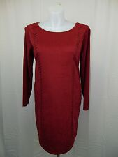 INC International Concepts Faux Suede Knit Sheath Dress 0X Glazed Berry #3974