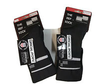 OFFICIAL SPORTS Brand USSF BLACK Soccer 2 Stripe Referee SOCKS New with Tags