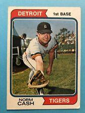 1974 Topps Baseball Card #367 Norm Cash Detroit Tigers