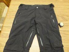 Men's Small Ski Pants HELLY HANSEN w Recco Black Waterproof Uninsulated Great!
