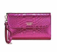 Victoria's Secret Hot Pink Wristlet Python Wallet  New