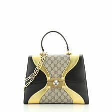 Gucci Osiride Top Handle Bag GG Coated Canvas and Leather Medium