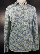 Beautiful Women's Size 4 Talbot's Multi-Color Floral Long Sleeve Button Blouse