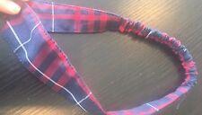 Hairbands Headbands Girls Red Navy Plaid School Uniform Youth