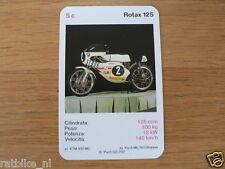 EASY RIDER 5C ROTAX 125 KWARTET KAART, QUARTETT CARD,SPIELKARTE
