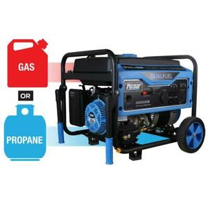Portable Generator Dual Fuel Adapter Engine Lubricant Recoil Start Wheels Blue