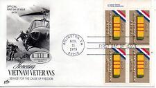 US FDC #1802 Vietnam Veterans Copyright Bock, ArtCraft (2815)