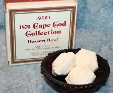 Avon 1876 Cape Cod Collection Dessert Bowl & Three Special Occasion Soaps