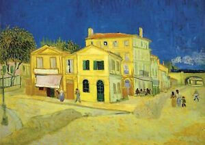 The Yellow House Van Gogh Large A2 size 42x59.4cm QUALITY Canvas Print Unframed