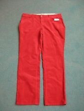 Sonoma Women's Red Corduroy Modern Fit Straight Leg Pants Size 14, New sm def.