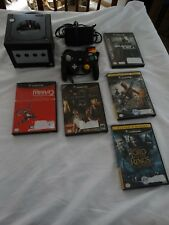 Gamecube black Console with 5 games (Resident Evil Zero, Splinter Cell, & More)