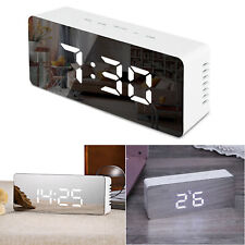 LED despertador digital alarma despertador mesa reloj iluminado schlummerfunktion regulable