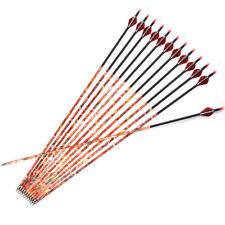 MUSEN 31'' Camo Carbon Arrows Archery Recurve Compound Bow Hunting SP400 12pcs
