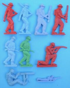 Woolworths Diggers Australian flat Toy Soldiers Toltoys Aussie Woolies 1960s