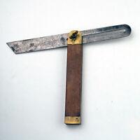 Antique / Vintage Tool - Rosewood & Brass Adjustable T-Bevel