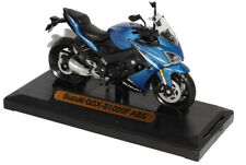 Suzuki GSX-S1000F ABS Blue From 2015 1/18 Motormax Model Bike with or Without I
