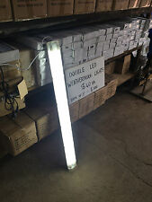 T8 DOUBLE LED LIGHT FLUORESCENT BATTEN - WEATHERPROOF AND COMPLETE - 2x18w 4FT