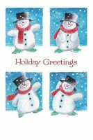 """Boxed Christmas Cards Frosty Snowman Design, 4"""" x 6"""", 16 Cards and 17 Envelopes"""
