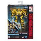 Transformers Toys Studio Series 49 Deluxe Class Movie 1 Bumblebee Action Figu...