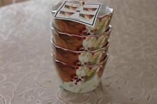 222 Fifth Harvest Festival Leaves Thanksgiving Appetizer Dessert Bowls-Set of 4