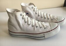 CONVERSE ALL STAR SIZE 9 MEN'S HIGH TOPS WHITE CANVAS LACE UPS