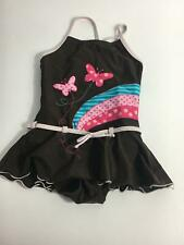 GIRLS H&M BROWN PINK BLUE SWIMMING COSTUME AGE 5-6 YEARS SWIMSUIT