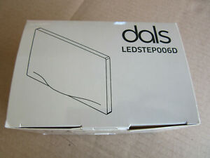 "Dals LEDSTEP006D-BK LED Recessed Horizontal Step Light 5"" Wide Black NEW! in Box"