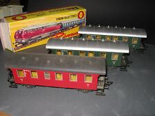 Spur 0 Rarität 3-tlg. Personenzug Rivarossi 7786 / 7787 Vitrinenmodelle Topzust.