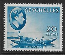 SEYCHELLES SG140 1938 20c BLUE MTD MINT
