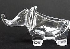 Elefante di cristallo come piatto Snack,Marchio Vannes Chatel,Francia,Altezza