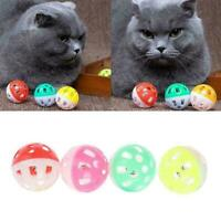 Multicolor Hollow Bell Ball Plastic Ball Cat Dog Toy Bell Toy Pet D4E2 K1B2