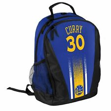Stephen Steph Curry #30 Warriors Jersey Backpack gym Book Bag NBA PRIMETIME Blue