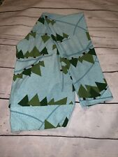 LuLaRoe TC Baby Blue Christmas Tree Leggings NWT