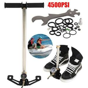 Handpumpe mit Manometer Fahrrad Luftpumpe Standpumpe Fahrradpumpe Pumpe 4500psi