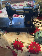 Vintage 221 Singer Featherweight Sewing Machine W/ Case