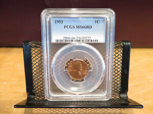 1953 Lincoln Cent PCGS MS66RD skcl0064
