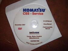 KOMATSU MOTOR GRADERS & TRUCKS SERVICE SHOP REPAIR MANUAL CD