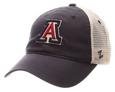 ARIZONA WILDCATS NCAA SLOUCH TRUCKER UNSTRUCTURED WASHED SNAPBACK Z CAP HAT NWT!