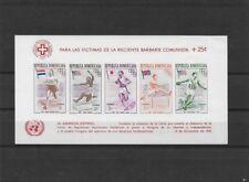DOMINICANA RED CROSS RIFUGIATI UNGHERIA BARBARIE COMUNISTA 1957 IMPERF ** MNH