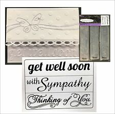 Darice embossing folder set SENTIMENTS 1219-300 Get well,Sympathy,Thinking words