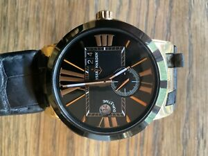 Ulysses Nardin Dual Time Rose Gold Automatic Men's Wristwatch