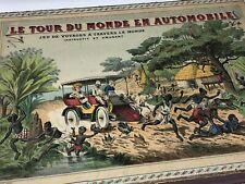 Le Tour du Monde en Automobile Jeu Ancien de Voyages Mauclair Dacier Paris Jouet