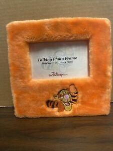 "Disney Store Tigger Plush Picture Frame 4""x 6"" Winnie The Pooh"