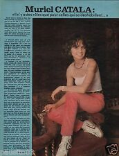 Coupure de presse Clipping 1977 Muriel Catala  (1 page)