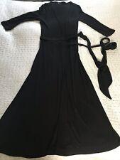 Stunning COAST Black Long Wrap Dress-size 8 Hardly Worn