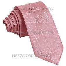 New Vesuvio Napoli polyester Men's necktie paisley wedding formal prom Pink