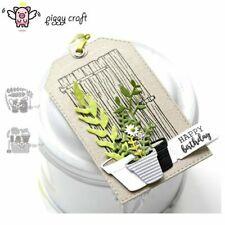 Metal Cutting Dies Cut Die Mold Flower Leaf Pot Basket Scrapbook
